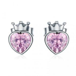 Aretes Corazón de Princesa