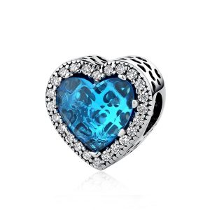 Charm Corazón Azul Deslumbrante
