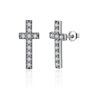 Aretes Cruz Brillante