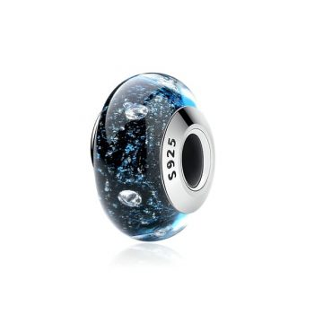Charm Murano Burbujeante Cristal Azul