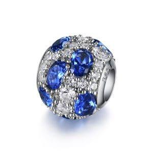 Charm Gotas Azul Brillante