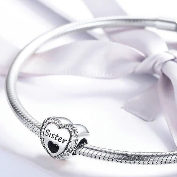 Charm Amor de Hermanas Compatible Pandora