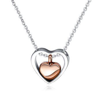 Collar Doble Corazón Acero