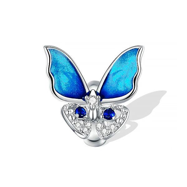 Charm Mariposa Azul Radiante